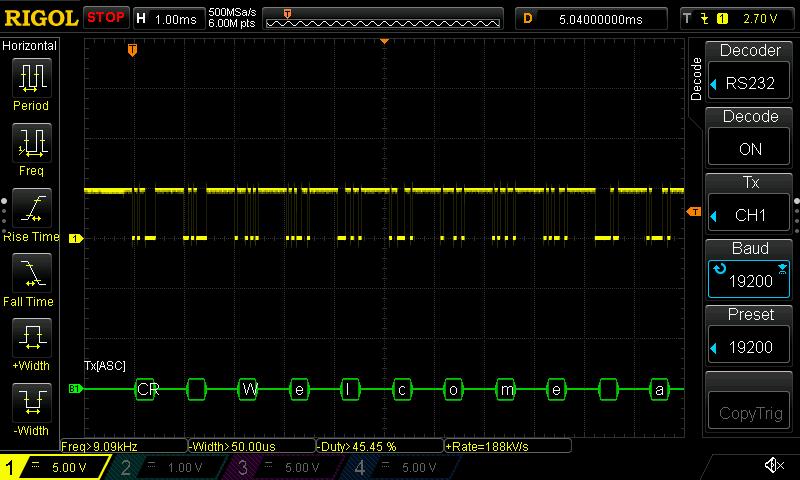 Oscilloscope Serial Decoding